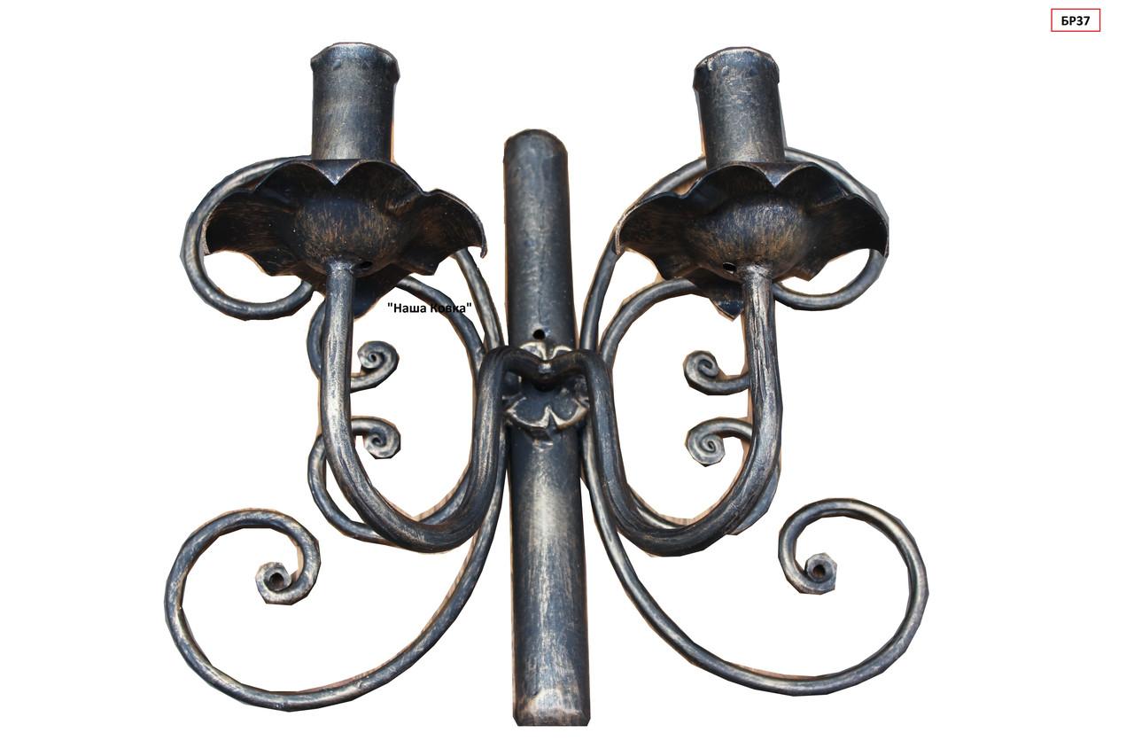 Светильник настенный бра на 2 лампочки в форме бабочки
