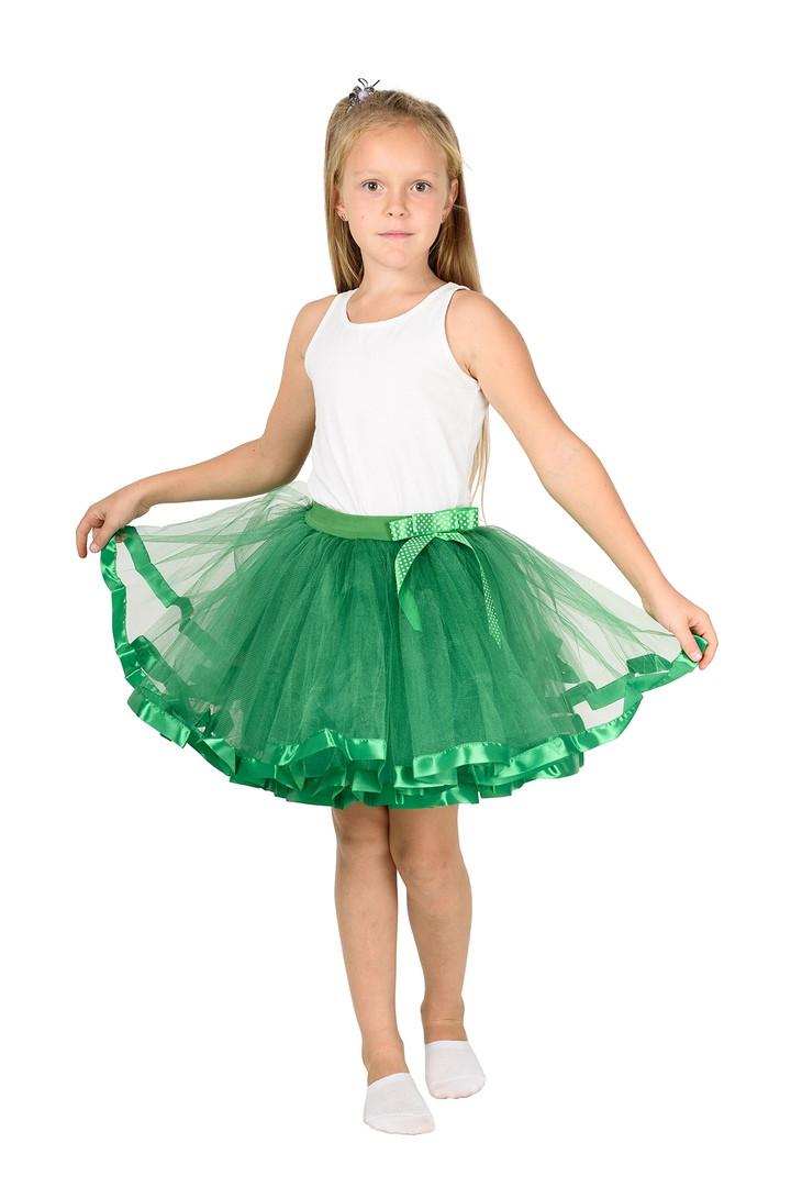 Фатиновая юбка - зеленая