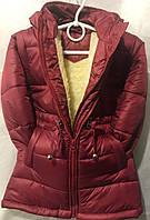 Детская зимняя куртка на овчине для девочки  оптом 92-116