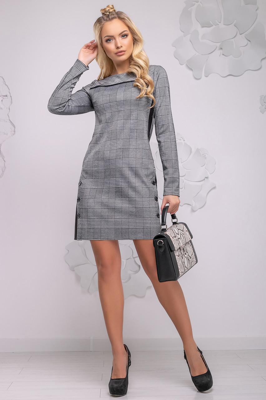 3b9e144b05f Удобное Повседневное Платье в Черно-Белую Клетку S-XL - Ukraine In Trend -