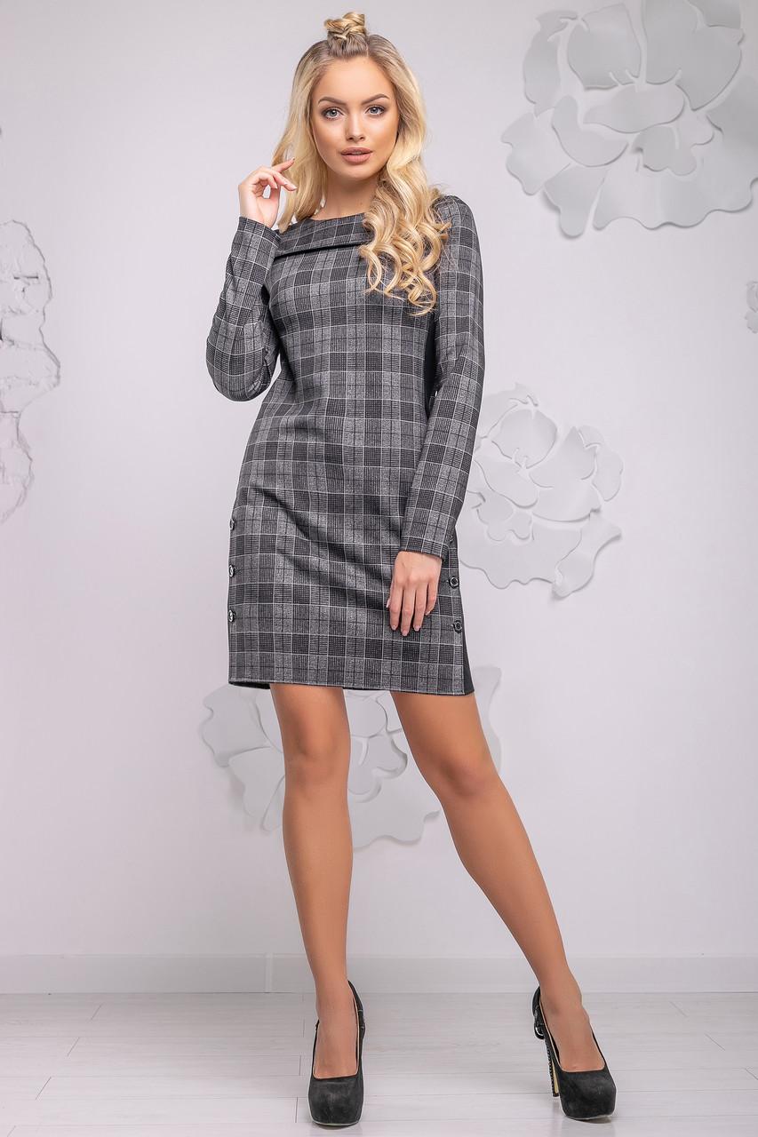 8ec0863de9d Удобное Повседневное Платье в Черно-Серую Клетку S-XL - Ukraine In Trend -