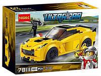 """Конструктор Decool 78111 """"Шевроле Корвет Z06"""" (Аналог Lego Speed Champions 75870)"""