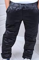 Детские штаны плащевка оптом 134-164 чёрные
