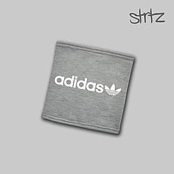 Теплый горловик Adidas серого цвета  (люкс копия)