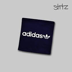 Теплый горловик Adidas синего цвета  (люкс копия)