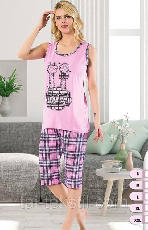 Асма пижама майка и бриджи хлопок разные цвета РАСПРОДАЖА