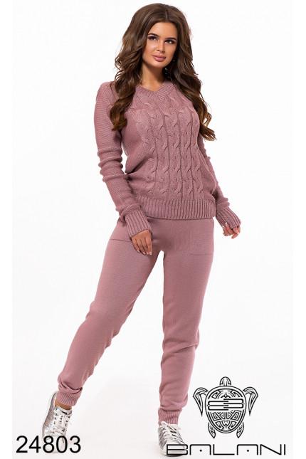 6d637bbe3630 Теплый удобный вязаный шерстяной прогулочный костюм недорого фабрика Balani  Украина размер 42-48
