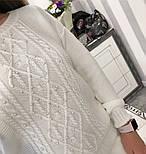 Женский вязаный костюм: свитер с жемчугом и брюки (4 цвета), фото 10