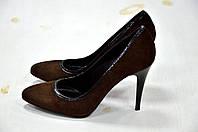 Туфли коричневые замшевые CafeNoir -740