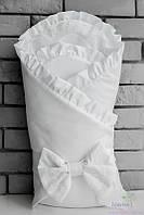 Белый конверт одеяло для новорожденного, зимний