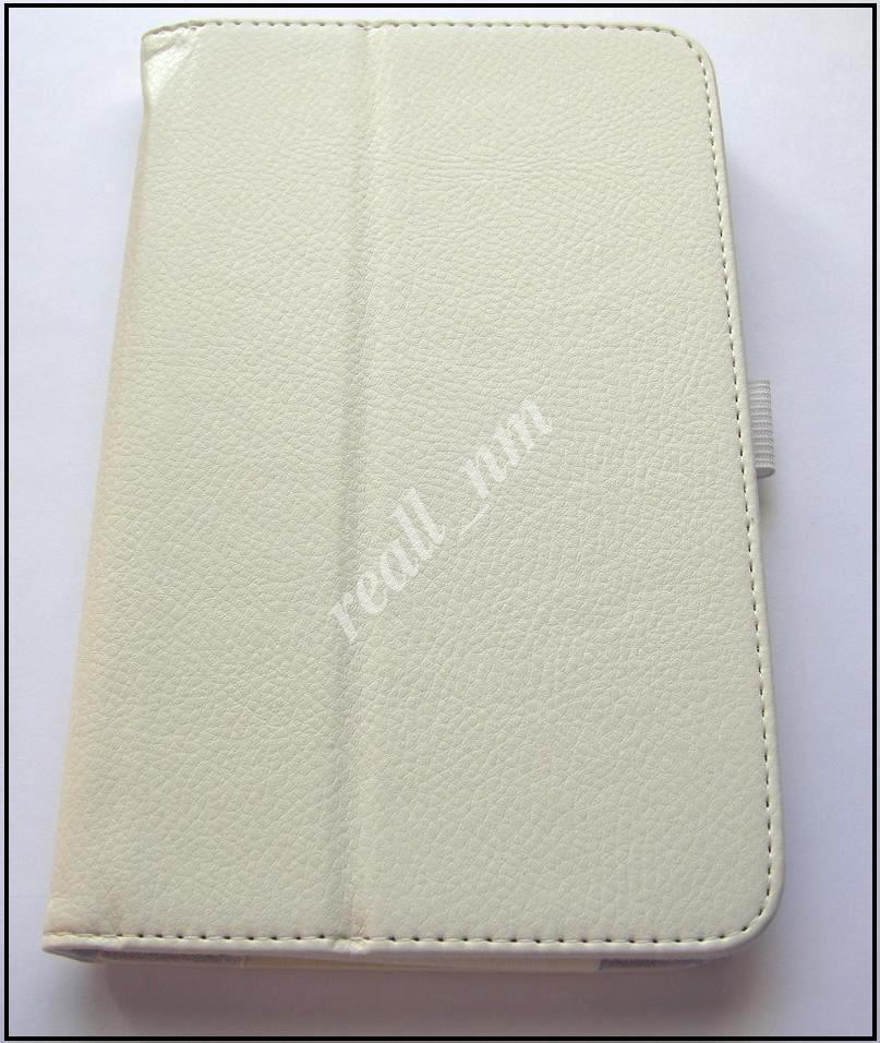Белый кожаный чехол-книжка Folio Case для Asus Memo Pad 7 Me170C Me170CX
