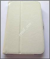 Белый кожаный чехол-книжка Folio Case для Asus Memo Pad 7 Me170C Me170CX, фото 1