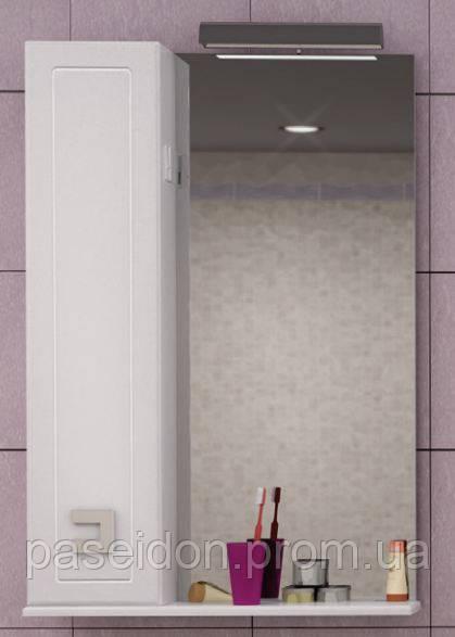 Шкаф настенный с зеркалом Аква Родос Мобис 55 (L)