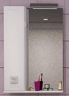 Шкаф настенный с зеркалом Аква Родос Мобис 55 (L), фото 1