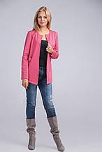Яркий женский летний розовый жакет размер 42