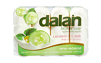Мыло туалетное Dalan Milky 4*90г. Огурец и Молоко (экопак)