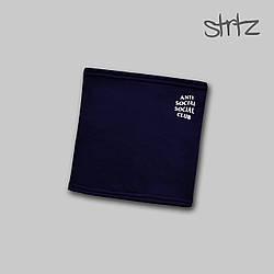 Теплый горловик Anti Social Social Club синего цвета  (люкс копия)