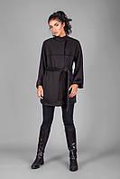 Кардиган-пальто из теплого трикотажа на меховой основе 42-48