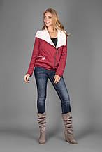 Женская трикотажная куртка на меху 1199 р.42-44