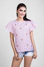 Летняя натральная легкая блуза 1328  Bellise