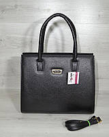 Женская черная сумка саквояж каркасная классическая 31612, фото 1