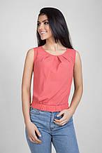 Летняя короткая шифоновая блуза топ от Bellise 44-46