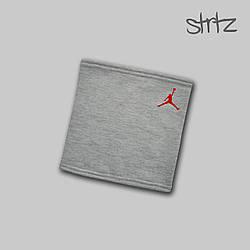Теплый горловик Jordan серого цвета  (люкс копия)
