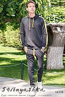 Мужской трикотажный спортивный костюм графит, фото 1