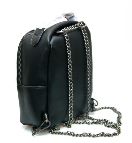 Фото молодежного подросток девочка модный стильный рюкзак черный melas вид с боку