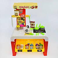 """Большой набор """"Кухня"""" для лепки со столом, светом, звуками. 32 детали"""