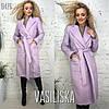 Женское кашемировое пальто на запах в расцветках. ВВ-36-1018 (В476), фото 2