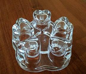 Стеклянная подставка-подогреватель для заварочных чайников Kamille (d дна заварника 10 см, d свечи 3,5см)