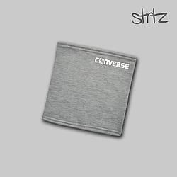 Теплый горловик Converse серого цвета  (люкс копия)