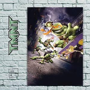 Постер Черепашки-ниндзя, TMNT. Размер 60x44см (A2). Глянцевая бумага