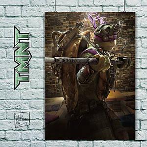 Постер Черепашки-ниндзя, TMNT. Размер 60x42см (A2). Глянцевая бумага