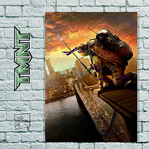Постер Черепашки-ниндзя, TMNT. Размер 60x43см (A2). Глянцевая бумага