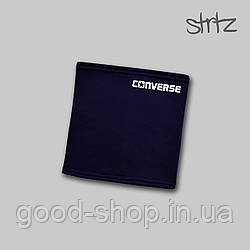 Теплый горловик Converse синего цвета  (люкс копия)