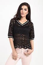Нарядная блуза женская гипюровая 42-46