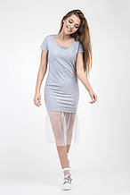 Стильное летнее молодежное платье сетка 42-46