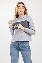 Трикотажная женская толстовка с капюшоном 42-46