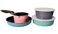 Набор посуды 7 пр Hilton FP-2452, фото 1