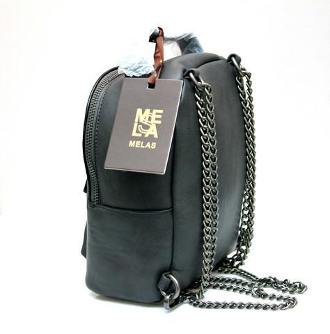 Фото молодежного подросток девочка модный стильный рюкзак серый Melas