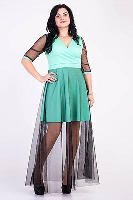 Праздничное длинное платье