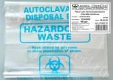 Пакеты для биологических материалов (автоклавирование отходов) 310*660*0,045мм 25000114