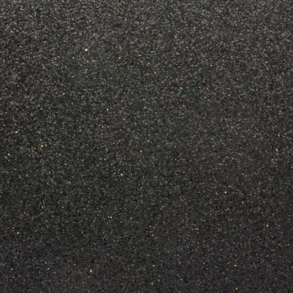 Глиттер 0.6 мм с клеевым слоем, Китай, ЧЕРНЫЙ, 20х32 см