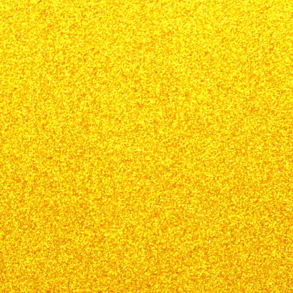 Глиттер 0.6 мм с клеевым слоем, Китай, ЖЕЛТЫЙ, 20х32 см