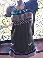 Кофта женская с коротким рукавом Серый б/у