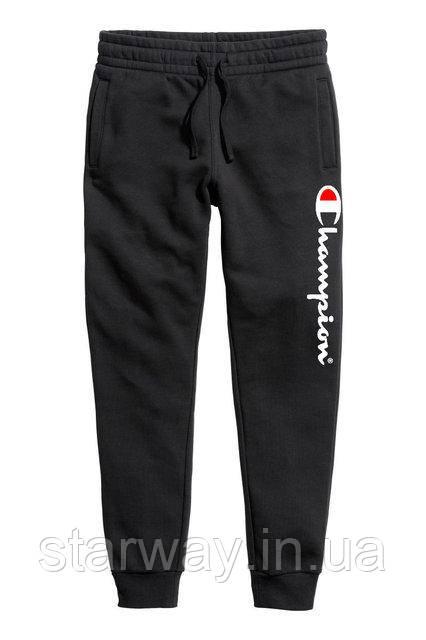 Чёрные штаны Champion logo | Стильные