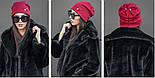 Женскя шапка з ангори з декором (5 кольорів), фото 3