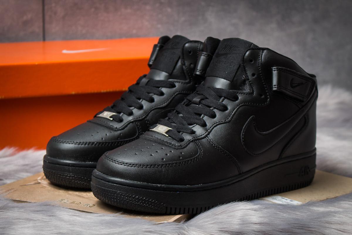 Зимние кроссовки в стиле Nike Air Force I, черные (30381),  [  41 43 44  ]